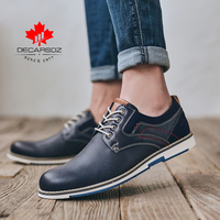 2020 Spring & Autumn Men Brogue Leather Lace up Shoes Men Casual Shoes Fashion Comfy Walking Footwear European style Men Shoes