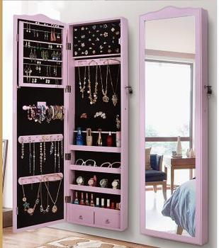 European style mirror jewelry storage cabinet wall mounted mirror home fitting mirror dormitory floor mirror