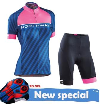 Women Cycling Clothing Sets Bike uniform Female short Sleeve Jersey Set Road Bicycle Jerseys MTB Wear