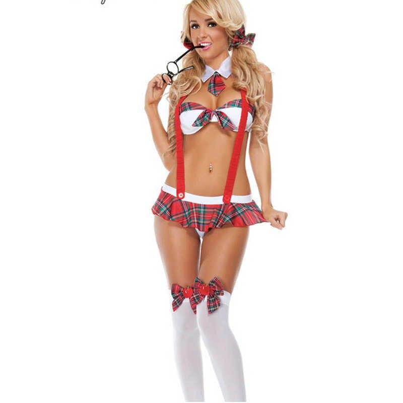 Nouvelle grande taille sexy lingerie chaude étudiant uniforme tentation femmes sous-vêtements exposer hanche cosplay costumes érotique sexe vêtements