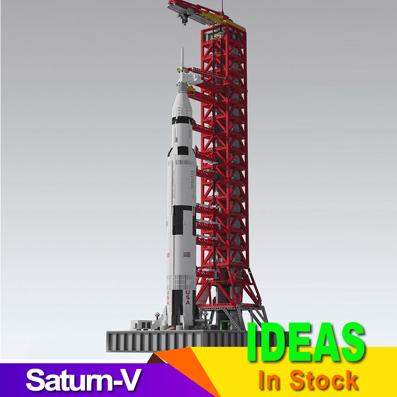 IDEAS 114CM High 3073PCS Space Apollo Saturn-V Launch Umbilical Tower FOR 21309 Fit Technic Building kit Christmas Gift 1