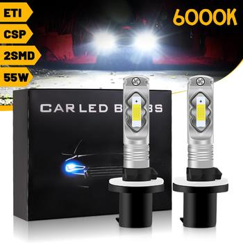 LED Car Headlight 6000K 880 881 9005-HB3 9006-HB4 H1 H3 H4 H7 H8 H9 H11 H16 H10-9145 Headlight Front Fog Lamps Light 55W image