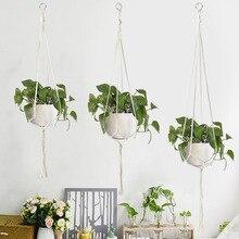 Hanging-Pots Basket Vintage Greening-Plant-Hanger Home-Decor Handmade Garden Creative