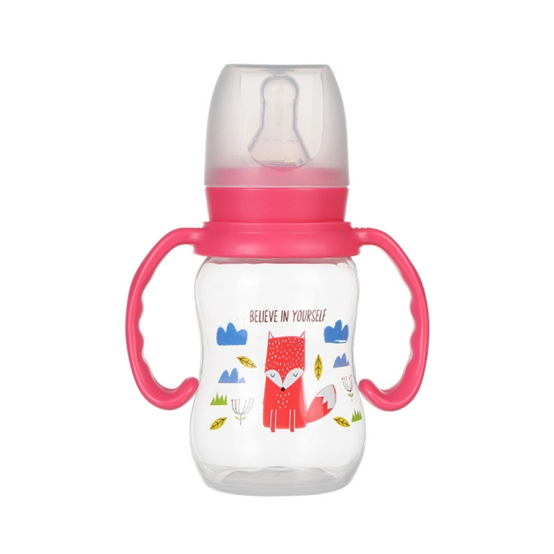 240ml Baby Silicone Milk Feeding Bottles With Handle Gift Infant Drinking Water Bottle Kids Cup