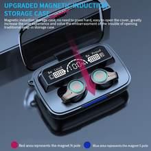 Hbq m18 tws impressão digital toque fone de ouvido bluetooth 5.1 fones sem fio carregamento à prova dhifi água alta fidelidade estéreo esportes