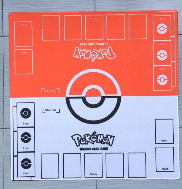 takara tomy tapis de jeu pour enfants accessoires ptcg carte pokemon jeu de table duet double joueur tapis de combat rouge vs blanc jouets