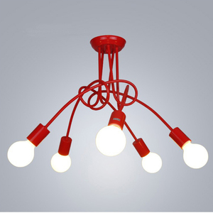 Image 4 - Nordic Loft Chandelier lighting,Vintage Industrial Ceiling Lamp,люстра lustre,bending personality for home & store,Spider chande