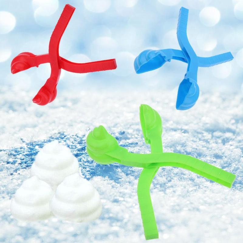1pc Winter Snowball Maker Sand Mold Tool Outdoor Sport Snow Ball Funny Compact Snowballs Fight Snow-balls Toy Random Color