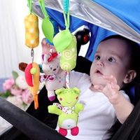 2019 New Infant Toys Mobile Baby Cartoon Animal Plush Toy Bed Rattles Crib Stroller Hanging Bells Toys