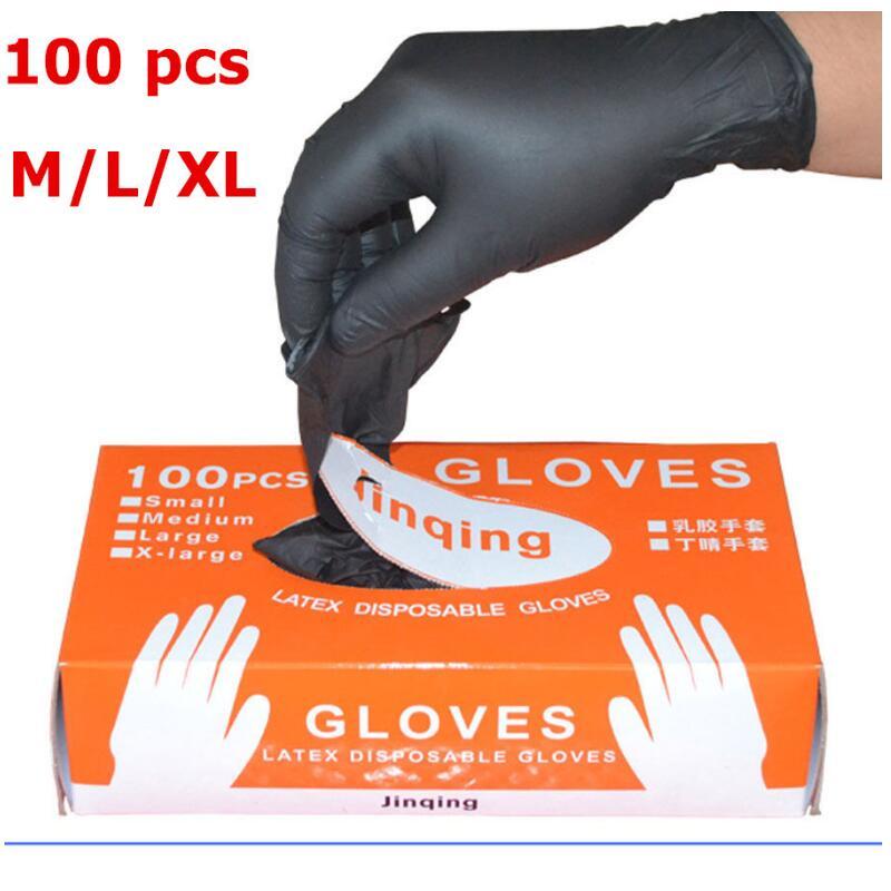 100pcs/lot Nitrile Gloves Black Food Grade Waterproof Allergy Free Disposable Work Safety Gloves Nitrile Gloves Mechani