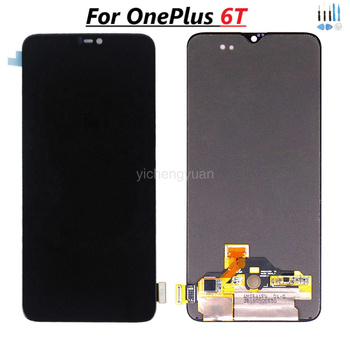 Original AMOLED LCD Display For Oneplus 6T A6010 A6013 Touch Screen Digitizer Assembly 6.41 Inch With Frame Frame Quality AAA+