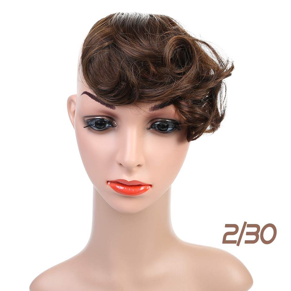 Allaosify Clip In Fringe Bangs Fake Hair Synthetic Clip In Hair Extensions Fake Bangs Clip On Bangs Hairpieces Gradient Bangs