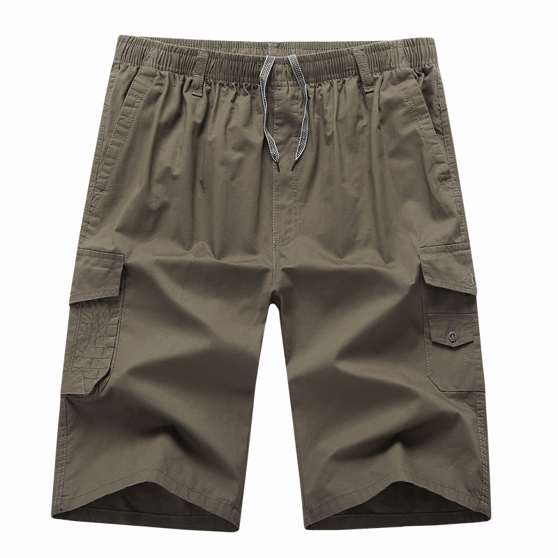 Mens Pants High Waist Larg Size Solid Cargo Military with Many Pockets Pants for Men Cotton Men's Trousers Calf-Length Pants 5xl