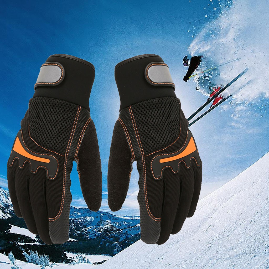 Waterproof Winter Warm Gloves Men Ski Gloves Snowboard Gloves Cold Weather Ski Gloves Adult Keep Warm Waterproof Windproof