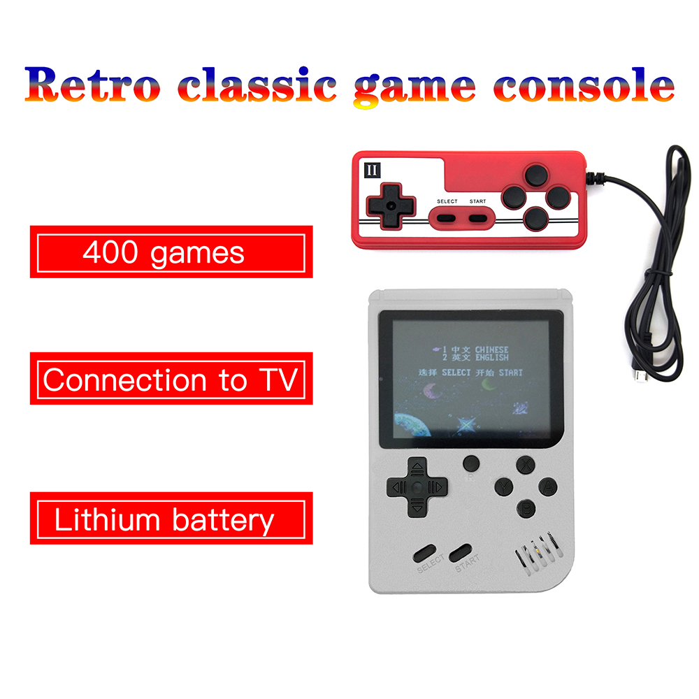 Drop shipping 3.0 inch Mini Handheld Game Player Built-in 400 Portable Game Console Classic Gaming Player gift