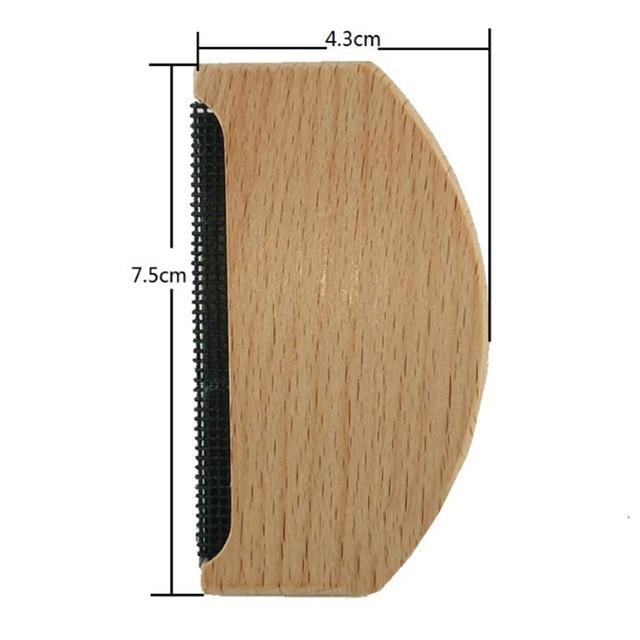Di legno Epilatore Del Maglione Vestiti del Rasoio Tessuto Vestiti Del Maglione Lint Rimozione Manuale Portatile di Legno Lint Trimmer Pettine Rasoio 6