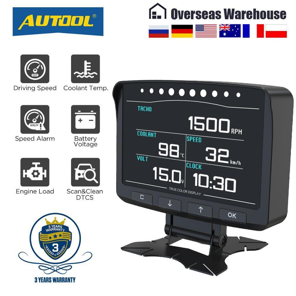 Монитор Диагностический AUTOOL X50Pro, цифровой автомобильный компьютер с поддержкой OBD II и блоком управления