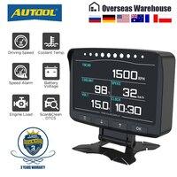 AUTOOL-pantalla Digital X50Pro OBD II HUD Head Up para ordenador de coche, medidor de velocidad automático, Monitor electrónico, diagnóstico, medidor de película ECU