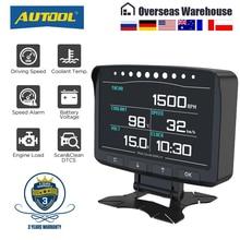 AUTOOL X50Pro OBD II HUD Head Up Display OBD2 Digital Car Computer Auto Speed Meter Electronic Monitor Diagnosis ECU Film Gauge