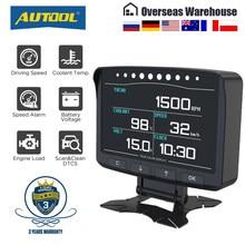 AUTOOL X50 PRO OBD II HUD Cabeça Up Display Digital Carro Computador ECU Auto Filme Calibre Monitor de pressão arterial Eletrônico Medidor de Velocidade ferramenta de diagnóstico