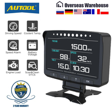 AUTOOL X50Pro OBD II HUD Head Up Display OBD2 Digital Car Computer misuratore di velocità automatico Monitor elettronico diagnosi ECU indicatore di pellicola