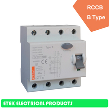 цена на RCCB EKL1-63 4P B type 400/415V~ 50HZ/60HZ Residual current circuit breaker  16A  25A 32A 40A 50A 63A 80A