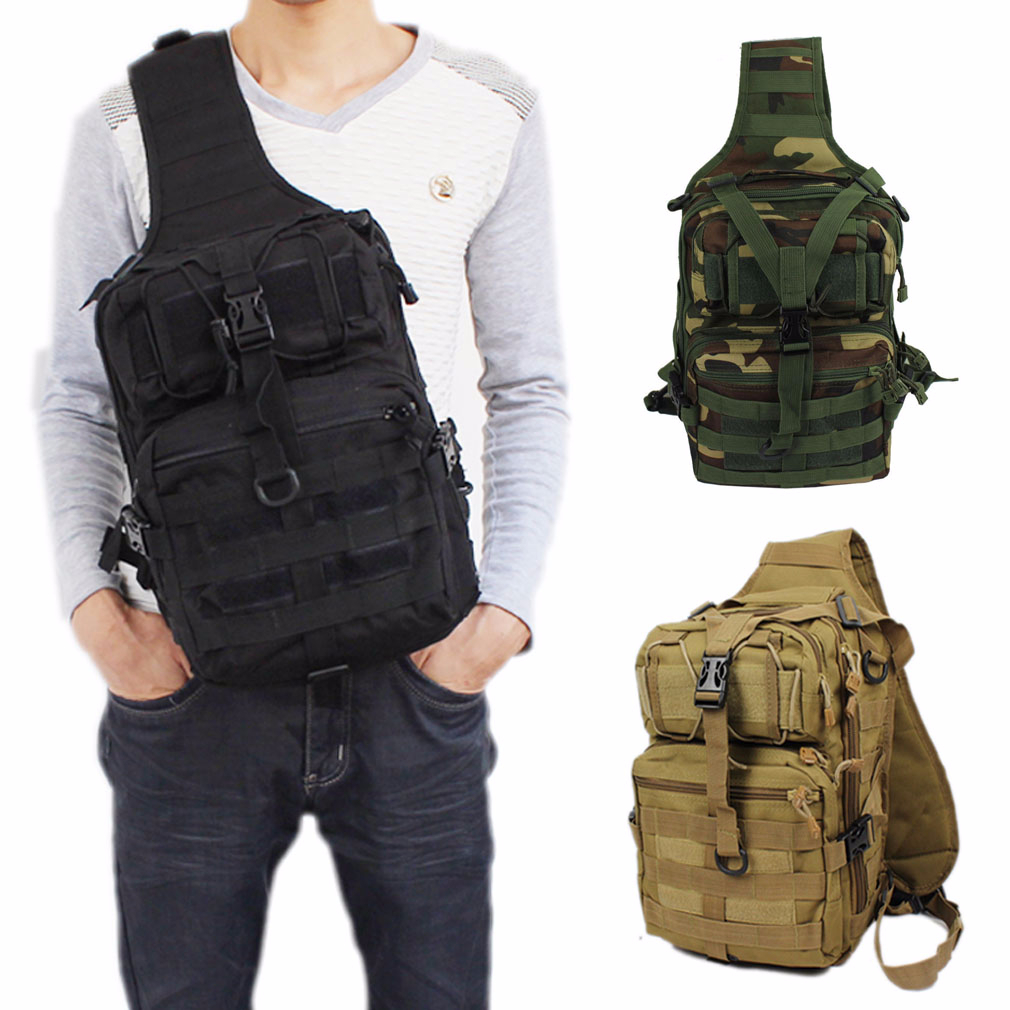 Men 600D Nylon Waterproof Sling Chest Bag Military Motorcycle Travel Riding Cross Body Messenger Casual Shoulder Back Pack