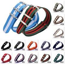 Ремешок для наручных часов cambo nato нейлоновый плетеный браслет