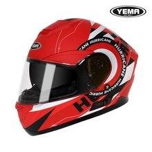 Yema 831s motocross para homens mulheres capacete da motocicleta personalidade rosto cheio capacete antifog unisex capacete bluetooth motocross