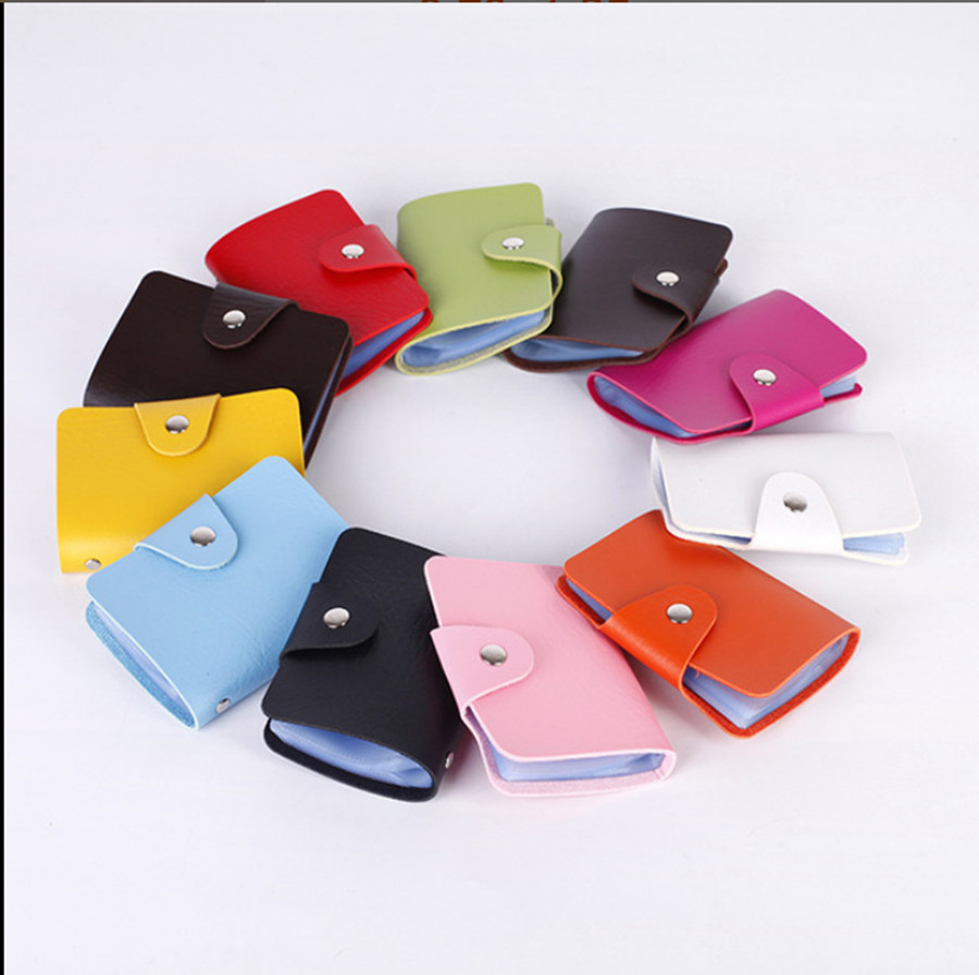 2019 New Men And Women Business Card Case Wallet Pu Leather Handbag Credit Card Holder Business Bag