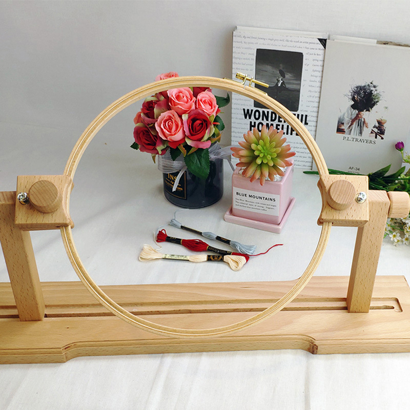 Cross Stitch Holder Wooden Cross Stitch Rack Adjustable Stand Desktop Cross Stitch Embroidery Frame Embroidery Assistant