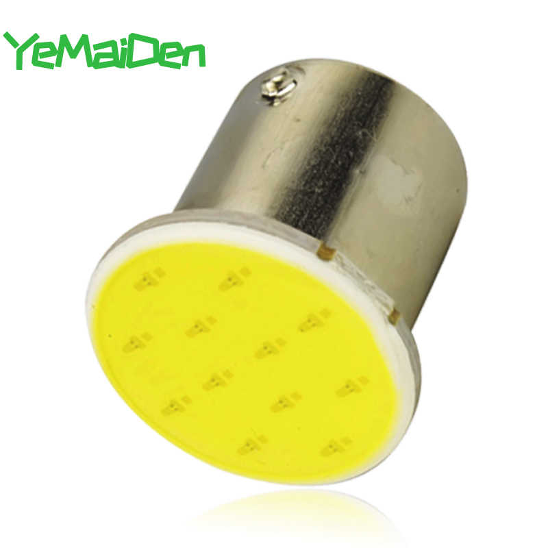 1x BAY15D 1157 Led Cob 7000K 12 Smd 12V Super Heldere BA15S 1156 Cob Led Lamp Auto Signaal licht Tail Turn Brake Parking Lampen Rood