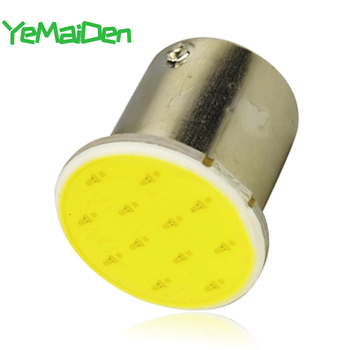 1x BAY15D 1157 LED COB 7000K 12 SMD 12V Super Bright BA15S 1156 COB LED Bulb Car Signal Light Tail Turn Brake Parking Lamps Red image