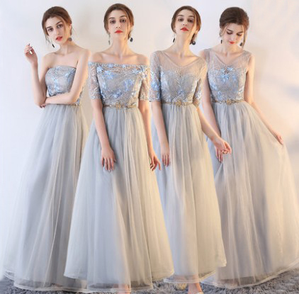 Sexy Bridesmaid Dresses Long Elegant Women Dress For Wedding Party Chiffon Dress Lace Backless Bridesmaids Dresses Gala Gowns