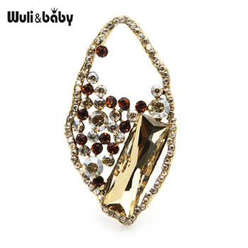 Wuli&baby Crystal Flower Brooches For Women Metal Rhinestone Weddings Party Office Brooch Pins Gifts цена 2017