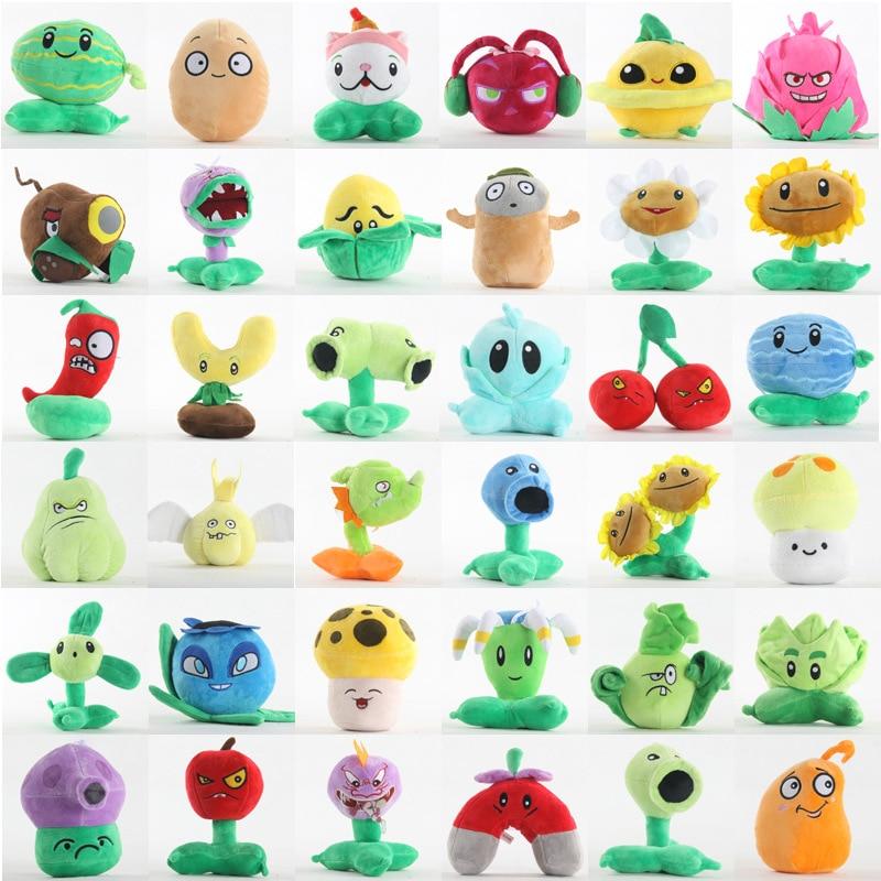 15-20CM Plants Vs. Zombies Watermelon Cherry Cannibal Flower Chili Vegetables Stuffed Animals Plush Doll Toy
