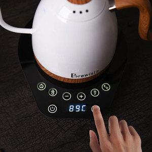 Image 5 - 220 v elektryczny dzbanek do kawy grzywny usta napar dzbanek do kawy wlać kawy czajnik do herbaty gęsiej szyi Pot600ml