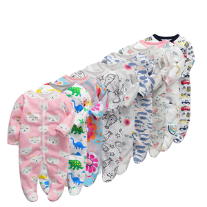 Image 1 - 6 יח\חבילה תינוק Rompers 2019 ארוך שרוול 100% כותנה סרבל יילוד בגדי Roupas דה bebe בני בנות סרבל & בגדים