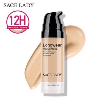 SACE LADY Face Foundation Cream baza makijaż profesjonalny matowy wykończenie makijaż płynny korektor wodoodporny marka naturalny kosmetyk tanie i dobre opinie Krem Fundacja Pożywne Kontrola oleju Pory Wodoodporna wodoodporny Krem nawilżający Rozjaśnić Naturalne Inne 15 ml 0 5 Fl Oz