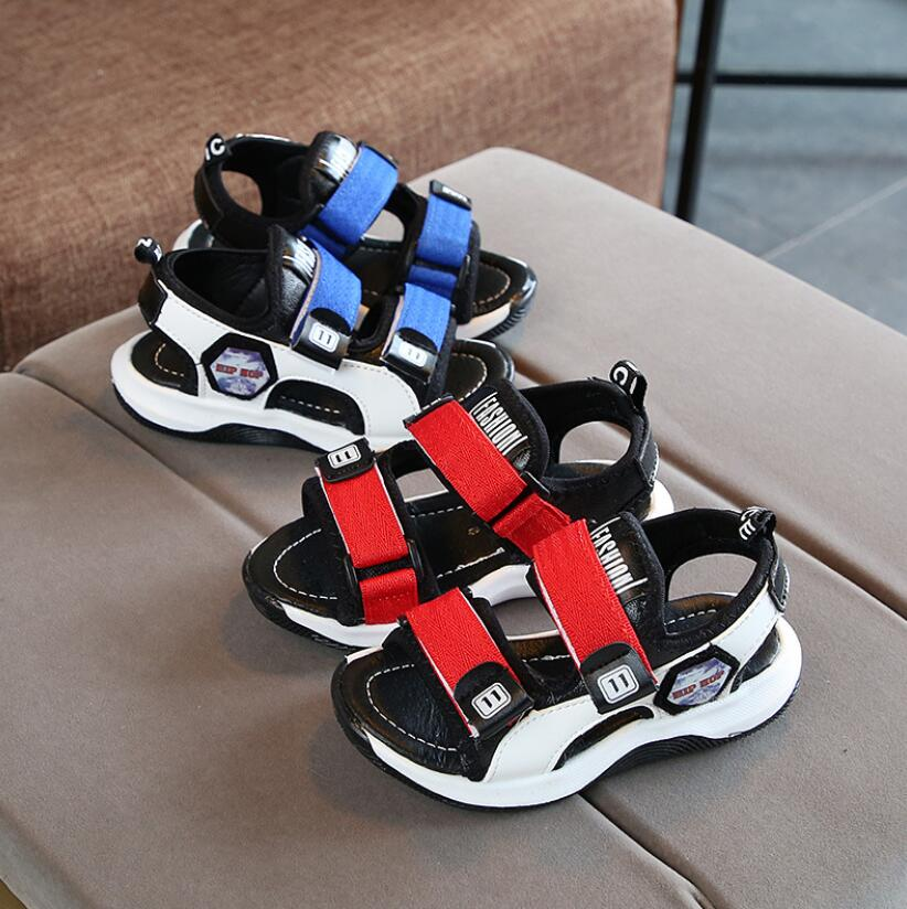 2020 Summer Boys Leather Sandals For Baby Flat Children Beach Shoes Kids Sports Soft Non-slip Casual Toddler Sandals 1-10 Years