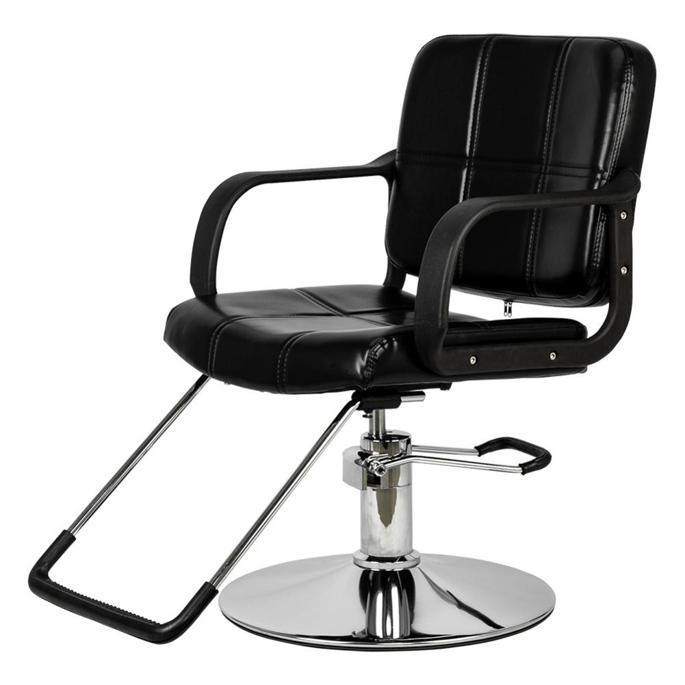 HC125 Woman Barber Chair Iron PVC Sponge Shop Hairdressing Chair Black Barbershop Tools