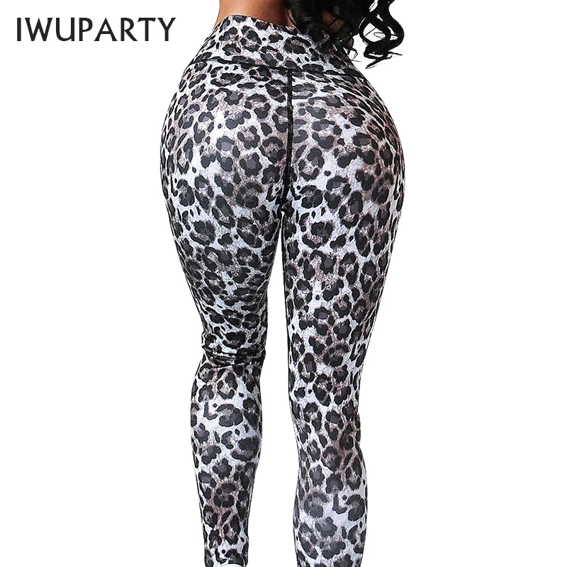 Fashion  Leopard Gym Fitness Leggings Women Sports High Waist Workout Leggins Push up Printed Pants Stretchy Booty Jogging