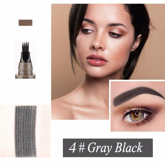 Makeup Microblading Four Fork Tip Eyebrow Pencil Waterproof Eye Brow Tattoo Pen  Fine Sketch Enhancer Makeup Cosmetic TSLM2 5