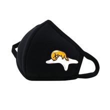 Anime Gudetama Mouth Face Mask Dustproof Breathable Facial Protective Cute Unisex Cartoon Mouth Cover Masks