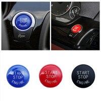 Car Engine START Button Replace Cover STOP Switch Accessories Key Decor for BMW X1 X5 E70 X6 E71 Z4 E89 3 5 Series E90 E91 E60|Peças do motor de arranque|Automóveis e motos -