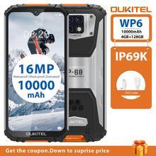 OUKITEL WP6 10000mAh 4GB 128GB 6.3'' FHD+ IP68 Waterproof Mobile Phone Octa Core 16MP Triple Cameras Rugged Smartphone