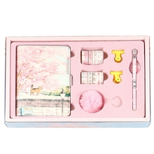 Cherry Blossom Sakura 80 Sheet A6 Loose-Leaf Notebook Journal Agenda Planner Set Stationery,Hand Account Book