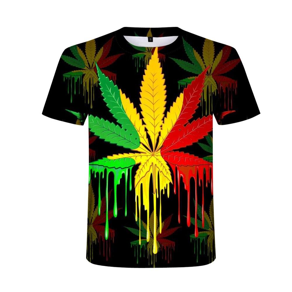 Funny Natural Weeds 3D Printed Men tshirt Unisex T-shirt Homme Fashion Short Sleeve Hip Hop T-shirt Couple Hipster Tee Shirt