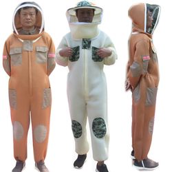 Beekeeping Suit Bee Keeper Professional jumpsuit Protective Beehive Breathable Anti Bee Full Body Beekeeping Clothes Breathable