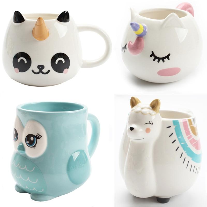 Cute Animal Ceramic Mug Creative Hand Painted 3D Mugs With Handle Coffee Tea Milk Breakfast Cups Nice Gifts|Mugs| - AliExpress